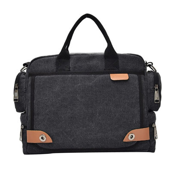 Office Shoulder Bags Tote Men's Canvas Messenger Shoulder briefcase Bag Crossbody Sling  Bags Satchel Handbag Laptop