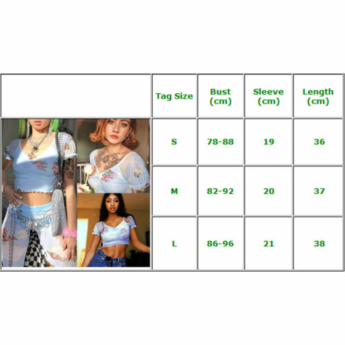 Angel Print Women Vintage Sheer Mesh Short Sleeve Crop Tops 2020 Summer Beach Party V Neck See through Tank Top Woman Clothes