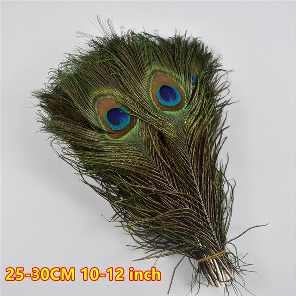50 Pcs/Lot Natural Real Peacock Feathers For Crafts 25-80cm dress is with Home Hotel decor room vase Wedding decoration plumes