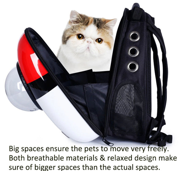 High quality window transport carrying breathable travel bag bubble astronaut pet dog space capsule cat carrier backpack