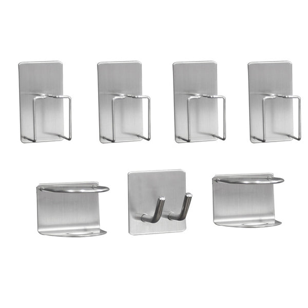 PTOC  304 stainless steel storage wall stand hook stickers for toothpaste toothbrush holders racks