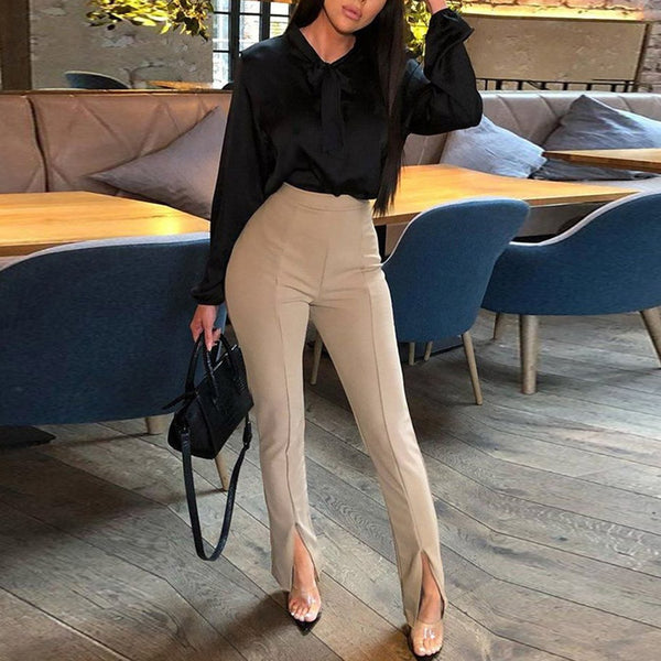 Women's Casual Harem pants Spring Summer Fashion Ankle-length Trousers Female Classic High Elastic Waist Black Camel Beige