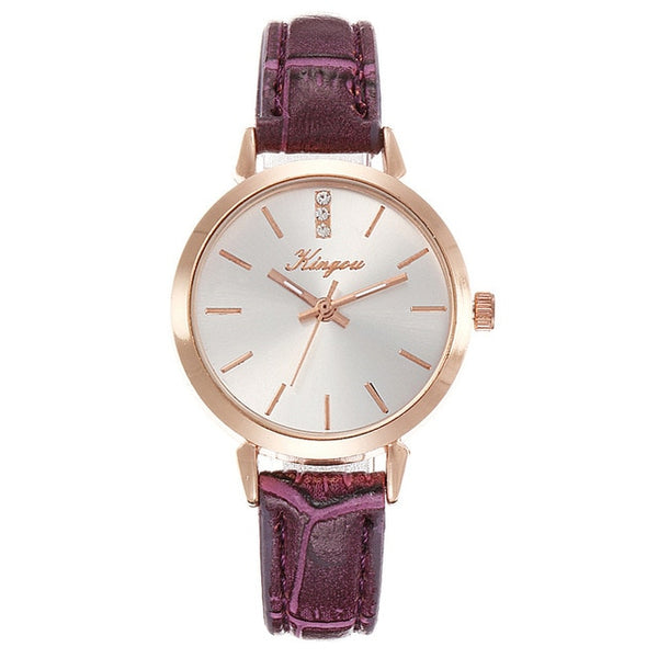Best selling Women's Watches Red Leather Brand Strap Womens Watches Luxury Brand Ladies Watch Famale Clock Zegarek Damski Relogi