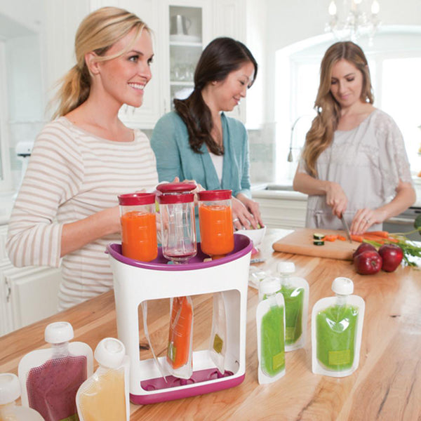Baby Food Squeeze Station Distributor Organizor Storage Containers Set Fruit Puree Packing Machine Baby Food Maker Dropshipping
