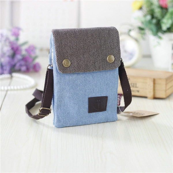 New women's soil casual wallet brand mobile wallet big card bag wallet handbag canvas slung shoulder bag