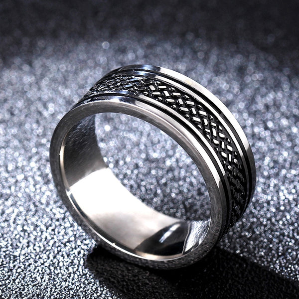 Best Movie Tibetan finger Rings Fish Scale Ring Titanium Stainless Steel gold Ring 8MM for men's gifts