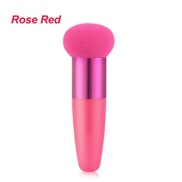 Women Mushroom Head Foundation Liquid Sponge Beauty Cosmetic Powder Puff Face Makeup Brushes Tools with Smooth Handle
