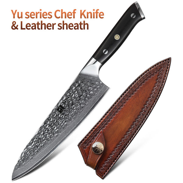 "XINZUO 8.5"" inch Chef Knife 67 Layers VG10 Damascus Stainless Steel Santoku Kitchen Knife Professional Chef Knives Ebony Handle"