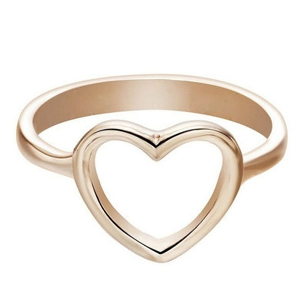 Hollow Heart Shaped Women's Ring For Couple Fashion Infinity Eternity Love Engagement Ring  Wedding Ring Jewelry Anillos Mujer