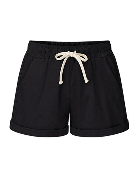 Summer Women's Shorts New Style Fashion Design New Casual Shorts Loose Large Size A Word Hot Thin Shorts