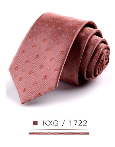 New 6cm Men's Leisure Silk Skinny Tie Colorful Fashion Striped Folral Plaid Slim Necktie Suit Business Wedding Party Formal Ties