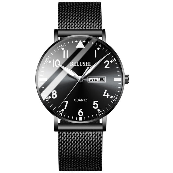New Fashion Ultra-thin Watch Men Top Luxury Brand Casual Men's Stainless Steel Mesh Strap Business Clock Men Wrist Watch