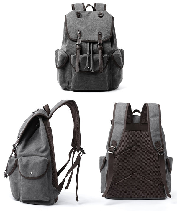 Retro  Backpack 15 inch Laptop Men's Trend School Student School Bags Casual Simple Travel Tackpack Women's Bags