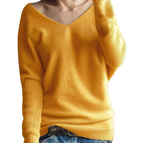 Women's Sweaters Blouse Fashion Women Winter Batwing Sleeve Solid Knit Sweater Women Women's Jumper Suit Tops Blouse Knitwear