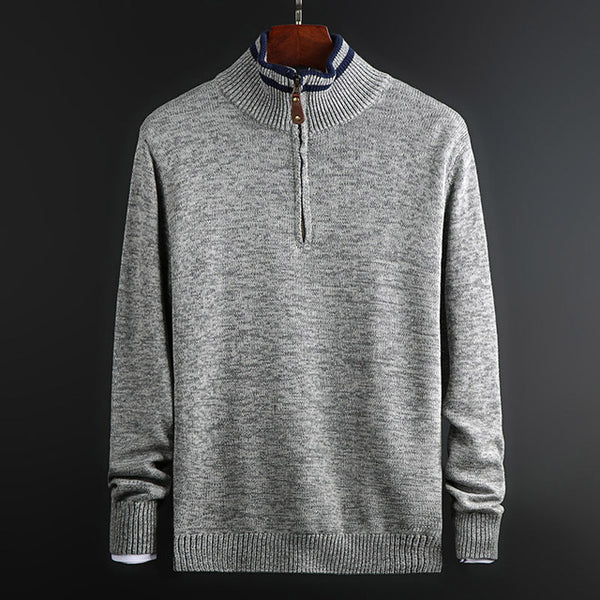 New Fashion Brand Sweater Men's Pullover Half Zip Pullover Slim Fit Jumpers Knit Autumn Korean Style Casual Mens Clothes