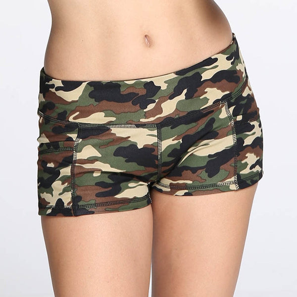 Women's Camouflage Print shorts female Athletic Summer sports shorts women low Waist Mini korte broek dames