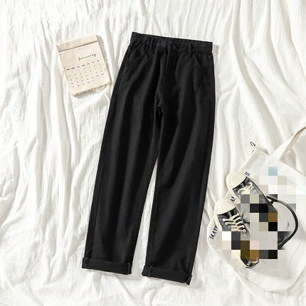 Spring summer new women's fashion thin section high waist slim and straight baggy jeans cheap wholesale