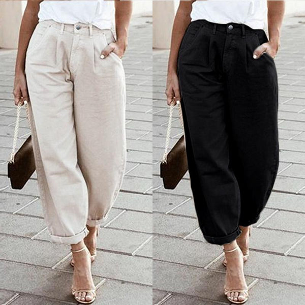 Women Pants Wide Legs Bib Cargo Long Pantalones Femme  Dungaree Long Harem Trousers Pockets Streetwear S-5XL