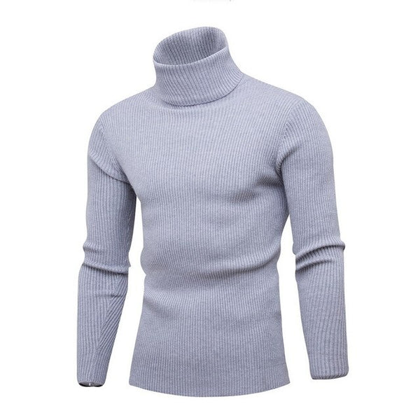 New Streetwear Men's Winter Warm Cotton High Neck Pullover Jumper Sweater Tops Mens Turtleneck Fashion 2020