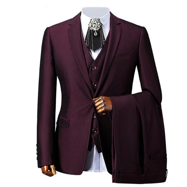 New Classic Men's Suit Smolking Noivo Terno Slim Fit Easculino Evening Suits For Men three-piece dress men's dress business dres