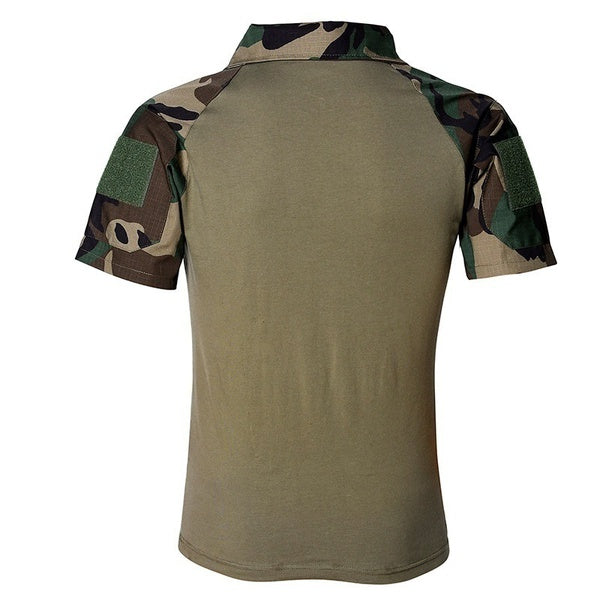 Men Summer Army Combat Tactical T Shirt Men Military Short Sleeve Tops T-Shirts Male Slim Fit Camouflage 5 Colors