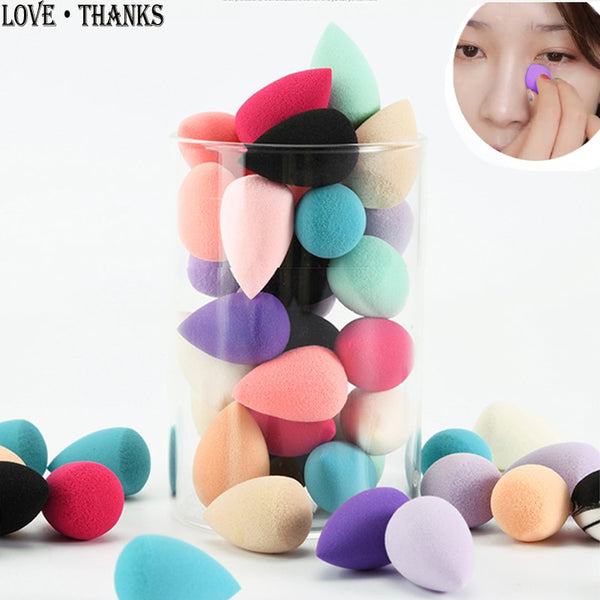 Mini Cosmetic Foundation Puff Beauty Makeup Sponge Soft Gourd Drop Shape Powder Blush BB Cream Make Up Tool Wholesale