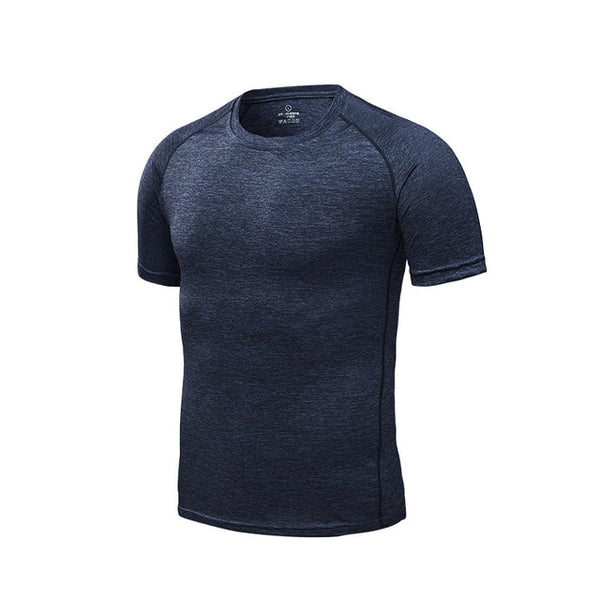 Men's Running T-Shirts, Quick Dry Compression Sport T-Shirts, Fitness Gym Running Shirts Tees, Men's Soccer Jersey Sportswear
