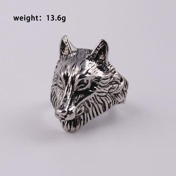 Lion Head Finger Rings Classic Men's Punk Rock Style Hip Hop Ring Fashion Gold Silver Leopard Wolf Ring for Men Women 2019 New