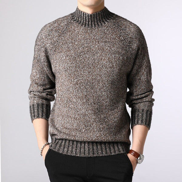 Men Sweaters Autumn Winter Men's Fashion Thick Sweater Mens Casual Simple Jumper Knitwear Warm Knitting Sweaters Male Pullovers