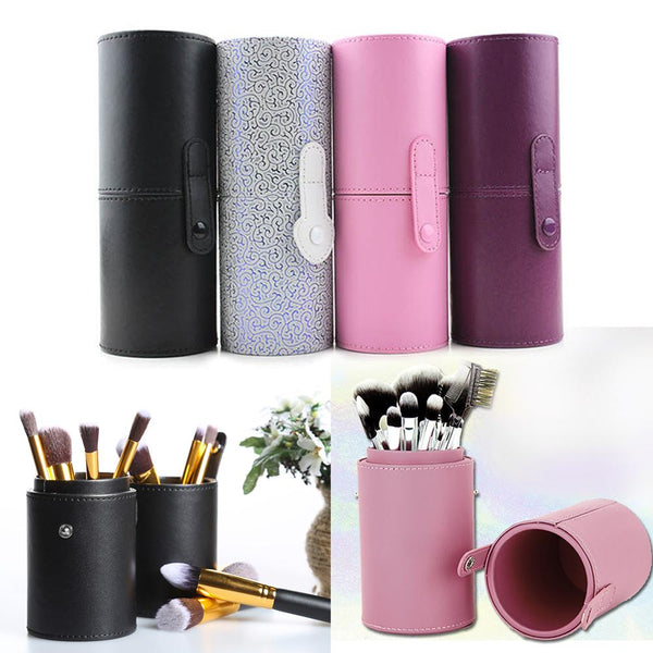 PU Leather Makeup Brush Organizers Box Travel Cosmetic Beauty Pen Nail Polish Holder Make Up Tools Pen Holder Rack