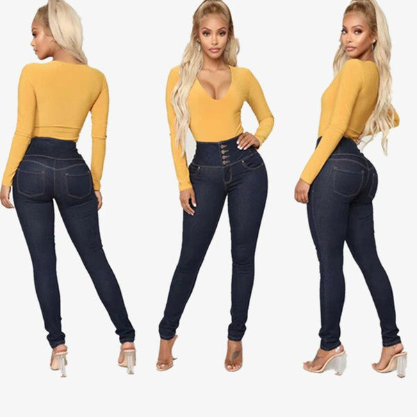 Buttock Lifting Retro High-waisted Slimming Elasticity Jeans Women's boyfriend jeans for women  fashionnova