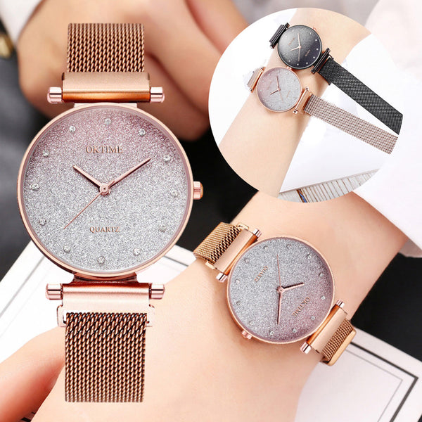Women Watch Elegant Business Starry sky Watch Ladies Luxury Fashion Quartz Wristwatch Bracelet Watch Clock Gift Reloj Mujer #W
