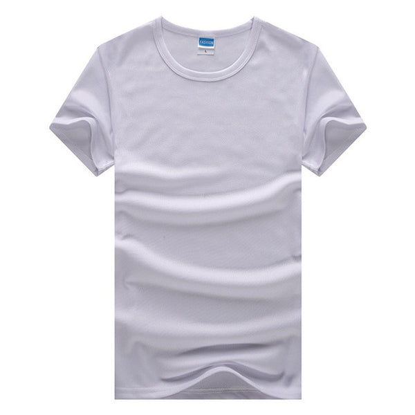 Men's T Shirt Men Casual Brand Solid Color Bottoming T Shirt Male Outdoor Perspiration T-Shirts