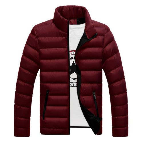 Winter Men's Warm Ultralight Puffer Down Parka High Neck Coat Jacket 2020 Fashion Winter Warm Men Down Coats