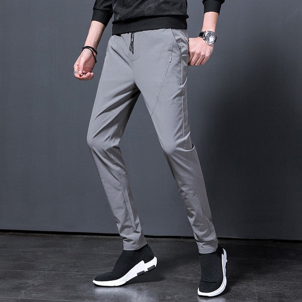 Trousers Men's Fashion Slim Sports Pants Elastic Spring Slim Tight Pants Casual Pants Men mens joggers cargo