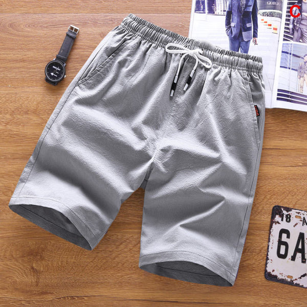 Men's Casual Loose Cropped Trousers Sports Shorts Loose Knit Straight Casual Pants Cotton Shorts Five Pants New
