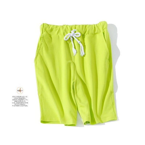 Men shorts 2020 new summer solid color  cotton keen length  sweatpants rich color short masculino