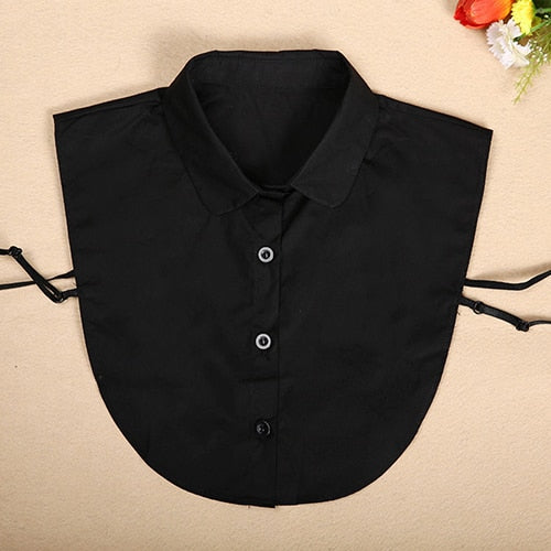 Fake Collar For Shirt Detachable Collars Solid Shirt Lapel Blouse Top Men Women Black White Clothes Shirt Accessories DropShip