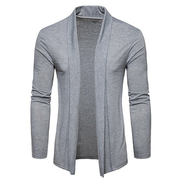 Adisputent Male Solid Color Shawl Sweater Men Fashion Thin Coats Pull Cardigan Men's Long Sleeve Knitwear Sweaters Jackets Tops
