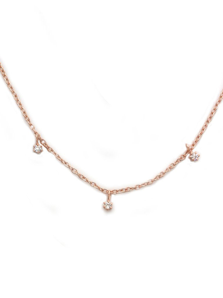 Rose Gold Twinkling Diamond Choker