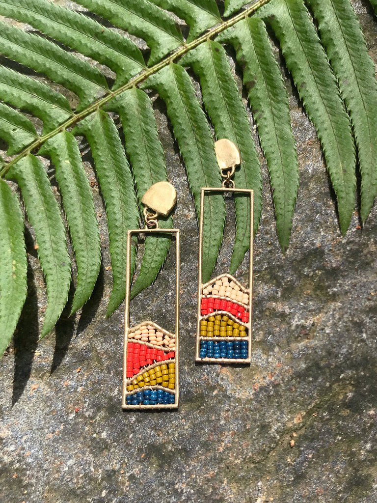 Hillside Earrings: Poppy Fields