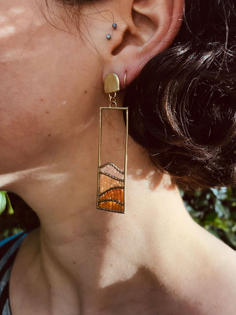 Hillside Earrings: Salmon River