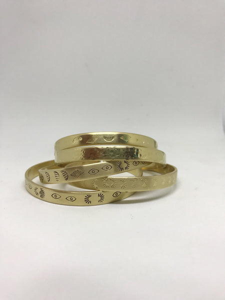 Textured Brass Cuffs