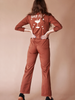 sugarhigh lovestoned bar fly long sleeve coveralls preshrunk cotton jumpsuit mechanic suit brown copper