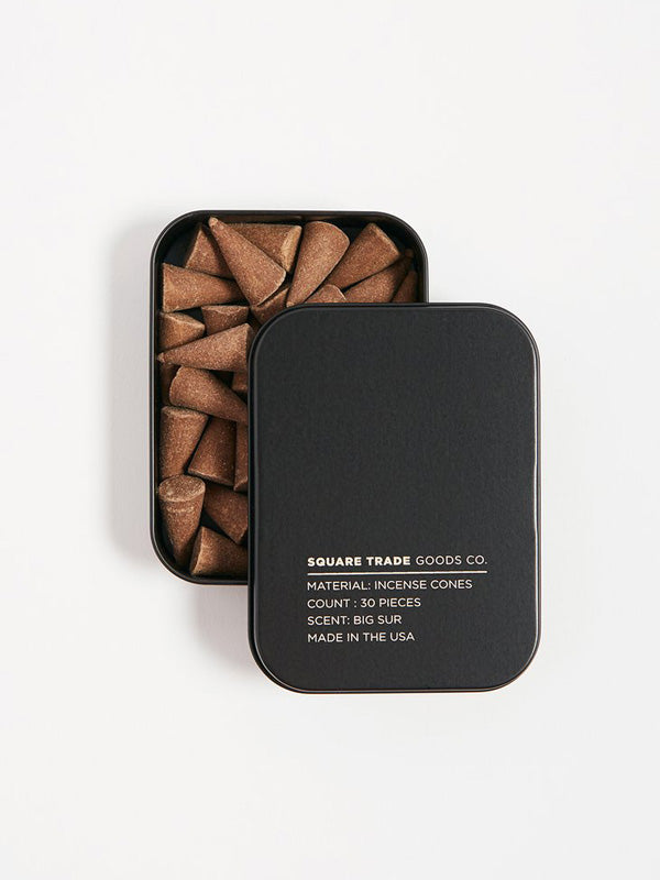 square trade big sur incense cones