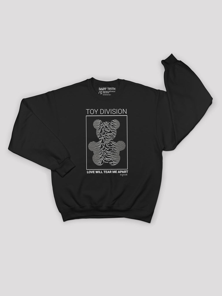 baby teith toy division joy division love will tear me apart kids sweatshirt jumper sweater music pop culture