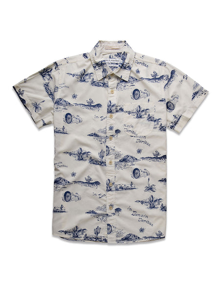 Ralph Springs Shirt: Ecru Springs