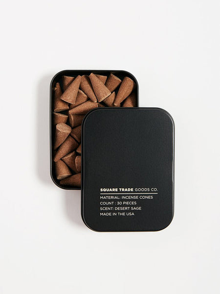 square trade desert sage incense cones