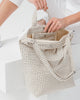 Duck Bag in Natural Grid
