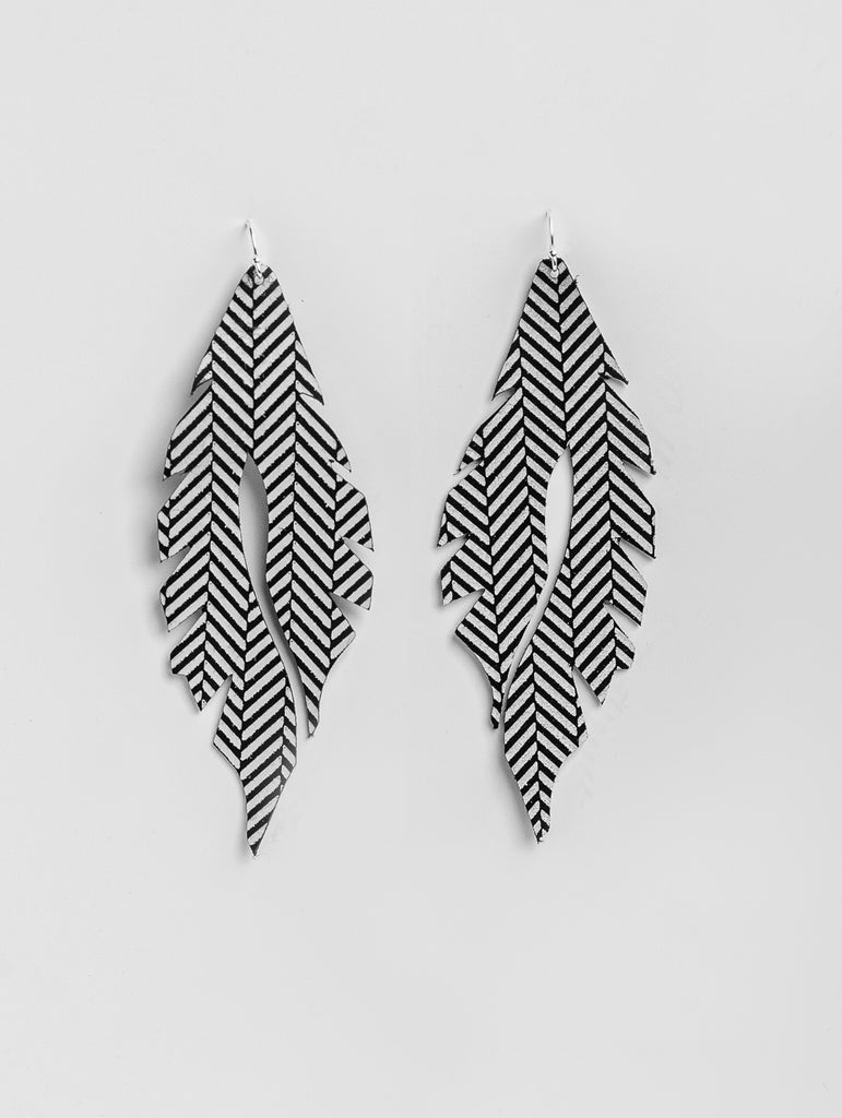 Sexy B&W Railroad Feather Minis by Edge of Urge